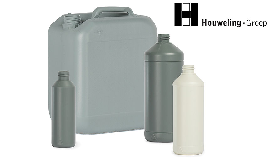 Flacons en jerrycans van 100% post-consumer recycled afval