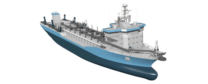 C-Job results of optimization ship design dredger